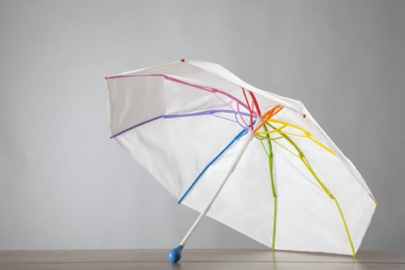 ありそうでなかった金属を使わず100%リサイクル可能な素材でデザイン性も抜群の傘