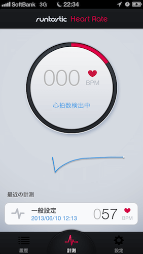 なんとiPhoneアプリで心拍数が計測可能!!Runtastic Heart Rate PRO!!