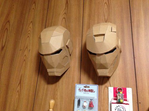 ダンボールでアイアンマン!!ボティ編!!マーク42のヘルメットが完成しました!!