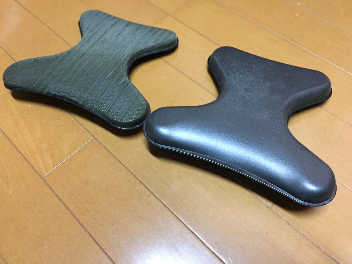 劣化したアーロンチェア背面の部品