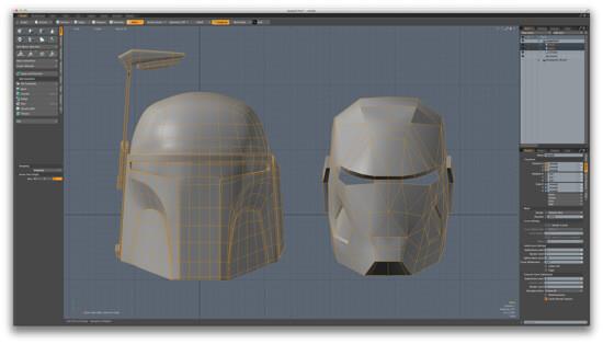 ダンボールでボバ・フェット!ボバのヘルメットをCGソフトで作っていきますよ!