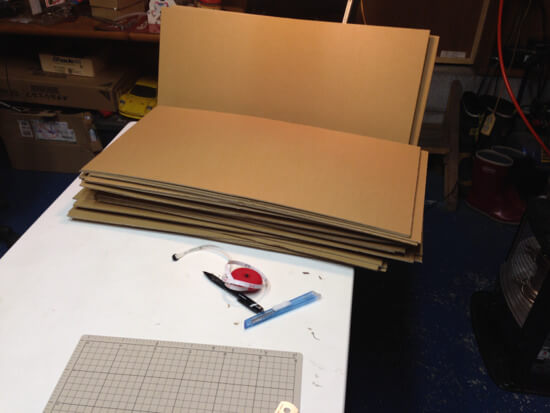 展開図作成からレーザーカッターでダンボールロボットのパーツ切り出しまで!!