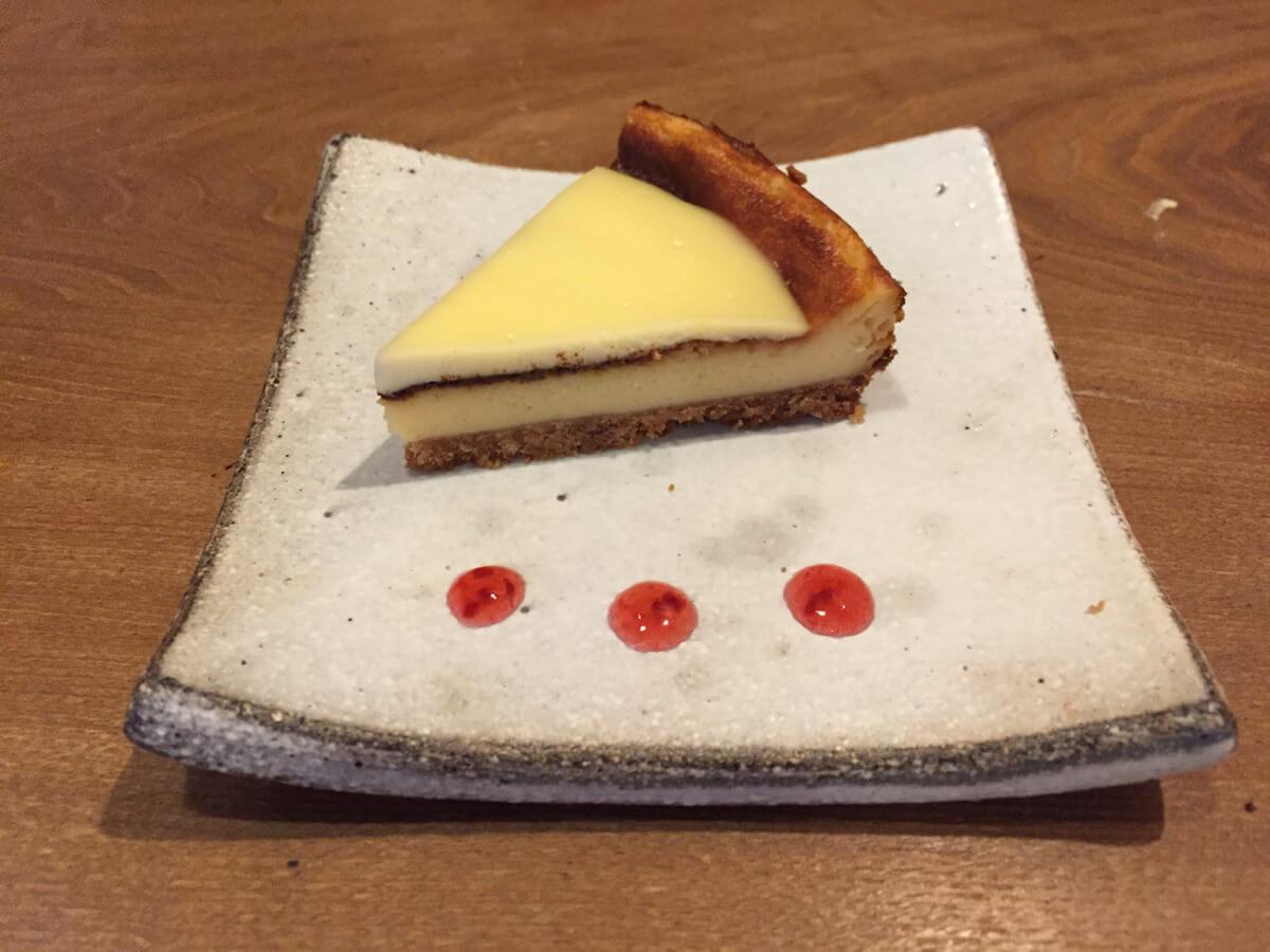 珈琲ボタンのチーズケーキ
