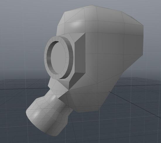 ダンボールでガスマスク!!CGソフトでモデリング開始!!