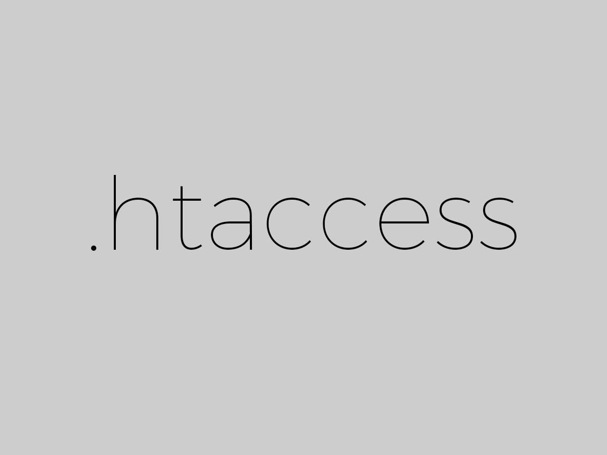 .htaccessの設定を消してしまったときの対処方法