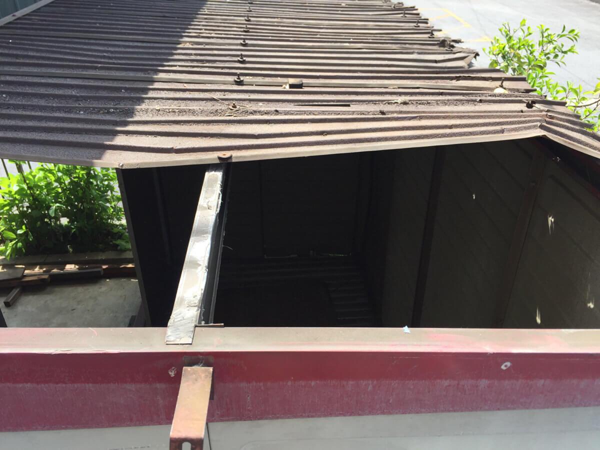屋根の取り外し