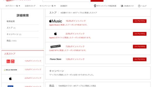 アップル公式サイトの買物で楽天ポイント還元を得る方法