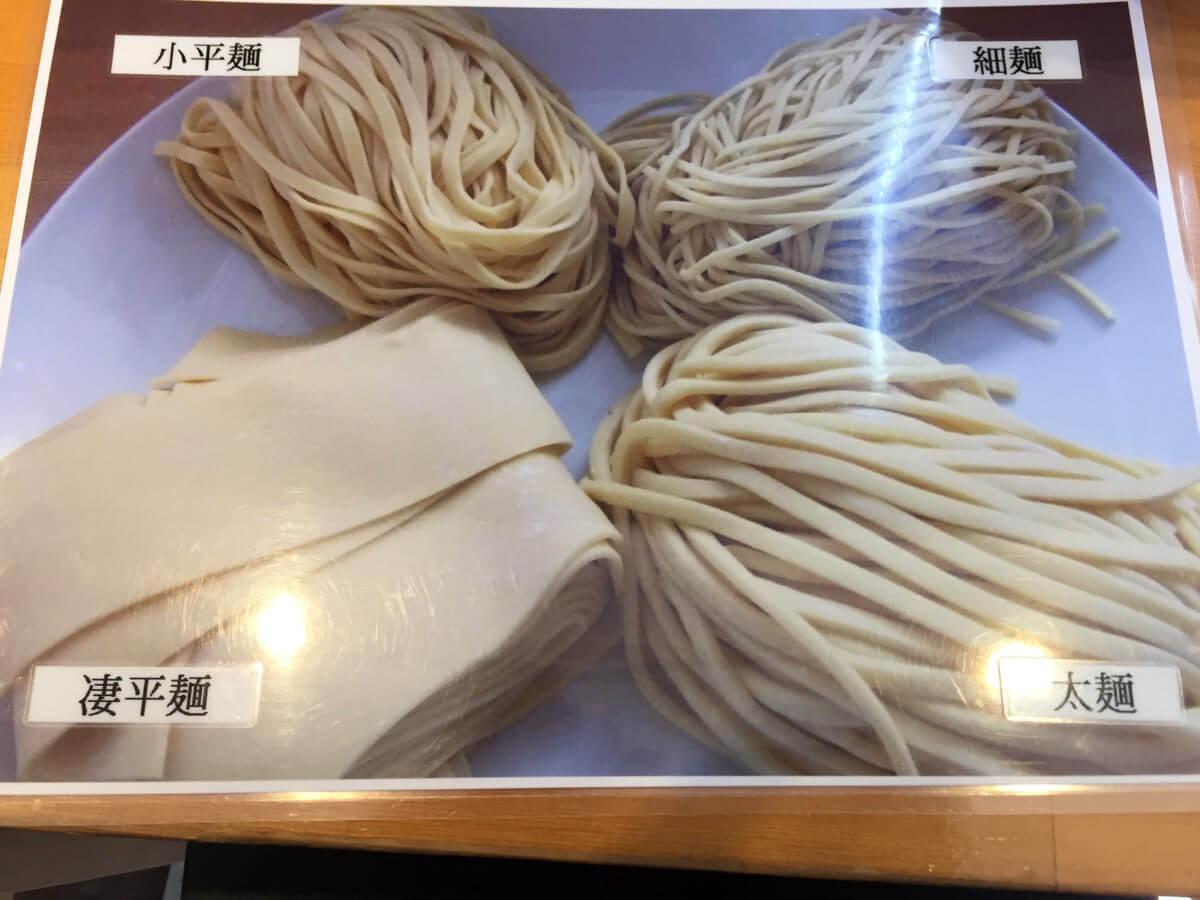 りきどう麺の種類