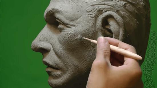 ハリウッドで活躍中の片桐さんの粘土造形がオンライン講座になっていた