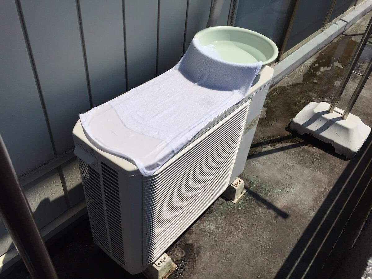 室外機の水冷